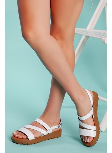 Muggo Sandalet Beyaz